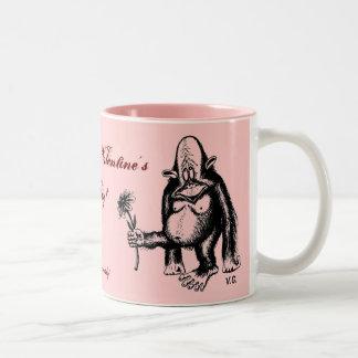 Happy Valentine's Day, funny monkey mug