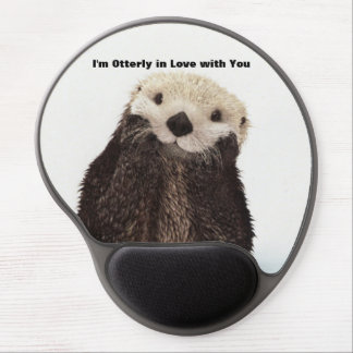 Happy Valentines Day Funny Otter Gel Mouse Pad