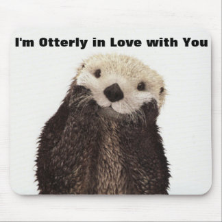 Happy Valentines Day Funny Otter Mouse Pad