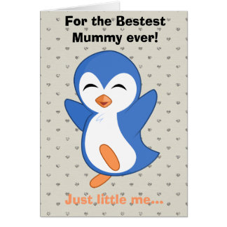 Happy Valentines Day Funny Penguin Valentine Greeting Card