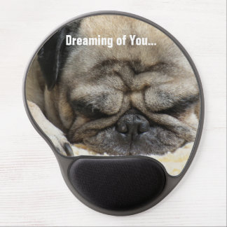 Happy Valentines Day Funny Puppy Gel Mouse Pad