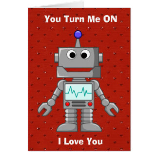 Happy Valentines Day Funny Robot Card