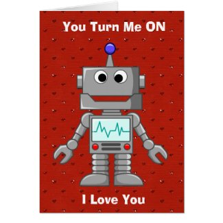 Happy Valentines Day Funny Robot