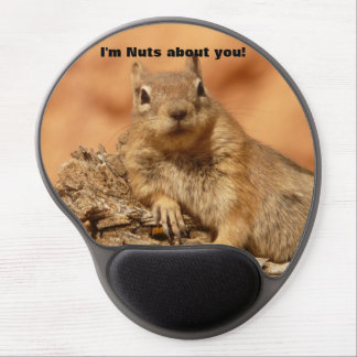 Happy Valentines Day Funny Squirrel Gel Mouse Mats