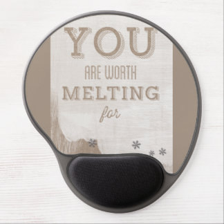 Happy Valentines Day Funny Words Gel Mouse Mats