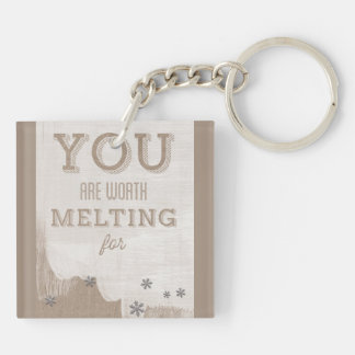 Happy Valentines Day Funny Words Key Chain