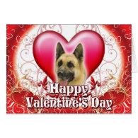 Happy Valentines Day German Shepherd Greeting Cards