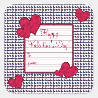 Happy Valentine's Day Gift Tag Sticker