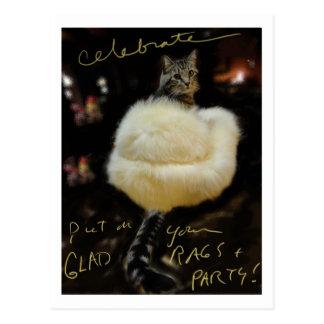 Happy Valentine's Day: Glamour PUSS! Postcard