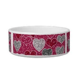 Happy Valentine's Day Glitter Love Bling Hearts Bowl