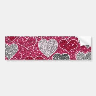 Happy Valentine's Day Glitter Love Bling Hearts Bumper Sticker