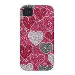 Happy Valentine's Day Glitter Love Bling Hearts iPhone 4/4S Case