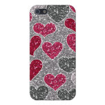 Happy Valentine's Day Glitter Love Bling Hearts Cover For iPhone 5