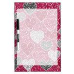 Happy Valentine's Day Glitter Love Bling Hearts Dry Erase Whiteboards