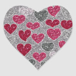 Happy Valentine's Day Glitter Love Bling Hearts Heart Sticker