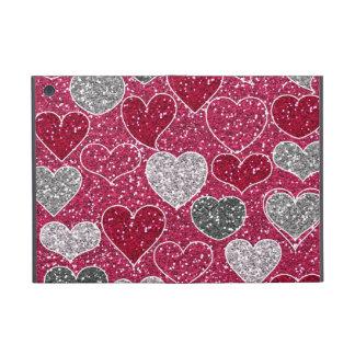 Happy Valentine's Day Glitter Love Bling Hearts Cases For iPad Mini