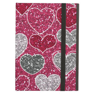 Happy Valentine's Day Glitter Love Bling Hearts iPad Covers