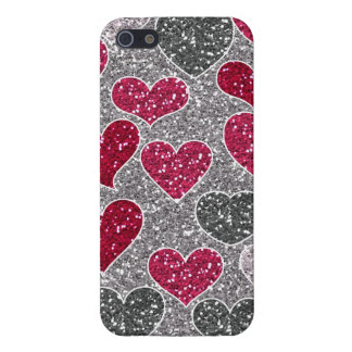 Happy Valentine's Day Glitter Love Bling Hearts iPhone SE/5/5s Cover