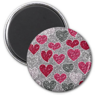 Happy Valentine's Day Glitter Love Bling Hearts Magnet