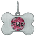Happy Valentine's Day Glitter Love Bling Hearts Pet Name Tags