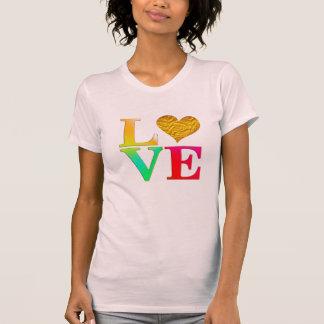 happy valentine's day golden heart t-shirt design