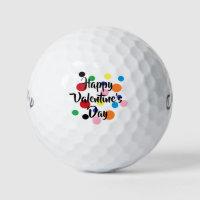 Happy Valentine's Day Golf Balls