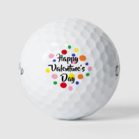 Happy Valentine's Day Golf Balls