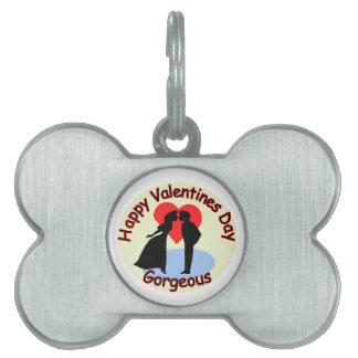 Happy Valentine's Day Gorgeous Pet Tag