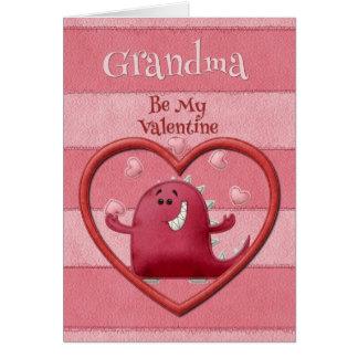 Happy Valentine's Day Grandma Be My Valentine Card
