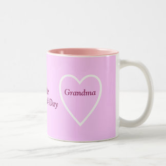 Happy Valentine's Day Grandma - I Love You Two-Tone Coffee Mug