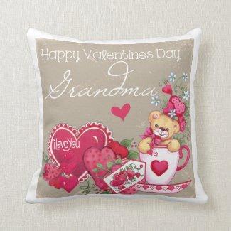 Happy Valentines Day Grandma Pillow