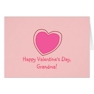 """Happy Valentine's Day, Grandma!"" [pink heart 1] Card"