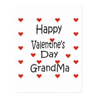 Happy Valentine's Day Grandma Postcard