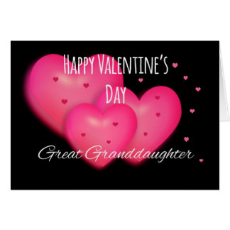 Happy Valentine's Day Great Granddaughter Card