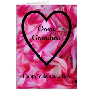 Happy Valentine's Day Great Grandma Card