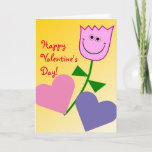 """[ Thumbnail: """"Happy Valentine's Day!"""" + Happy Smiling Flower Card ]"""