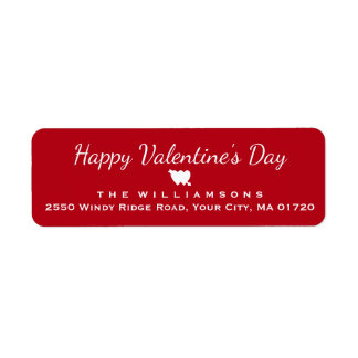 Happy Valentine's Day Heart and Arrow Personalized Label