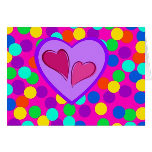 Happy Valentine's Day Heart design notecard Stationery Note Card