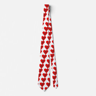 Happy Valentine's Day Heart Message Tie