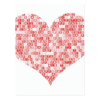 Happy Valentine's Day Heart Postcard