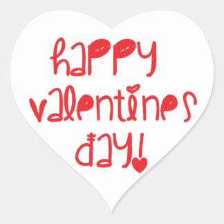 Happy Valentines Day Heart Sticker