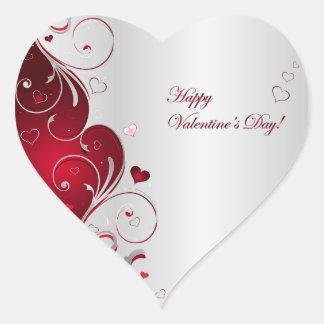 Happy Valentine's Day Heart Sticker