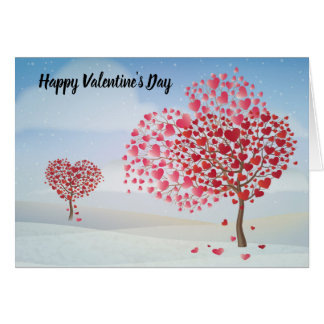 Happy Valentine's Day Heart Tree Card