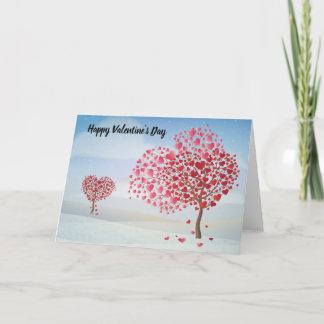 Happy Valentine's Day Heart Tree Holiday Card