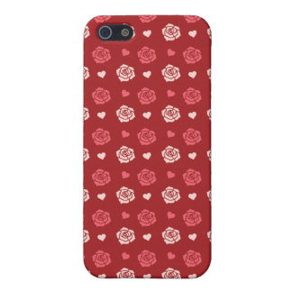Happy Valentine's Day Hearts and Flowers Red Pink iPhone SE/5/5s Cover