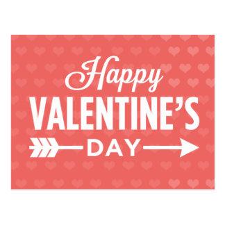 Happy Valentine's Day Hearts / Arrow Postcards
