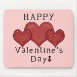 Happy Valentine's Day Hearts D7 Mousepad