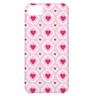 Happy Valentine's Day Hearts Pattern Pink Red iPhone 5C Case