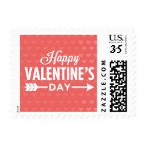 Happy Valentine's Day Hearts Postage