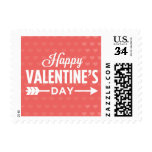 Happy Valentine's Day Hearts Postage Stamps